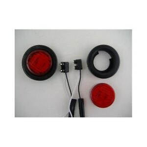 2 Red 2 Round 9 Led Custom Mini Stop Turn Brake Tail Lights
