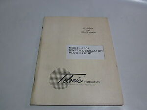 Telonic 3301 Sweep Oscillator Plug In Unit Operation Service Manual R3 s35