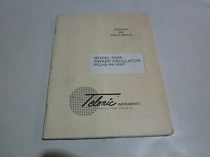 Telonic 3305 Sweep Oscillator Plug in Unit Operation Service Manual R3 s35