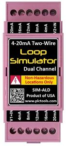 Analog 4 20ma Current Loop Simulator Dual Channel Din Rail Mounted