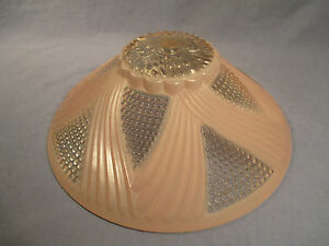 Vintage Retro 11 Heavy Glass Ceiling Shade Pink Clear Design Fy 52