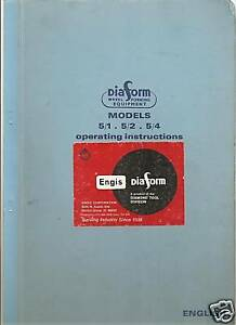 Diaform Engis Wheel Form Grinding Instruction Manual Cd