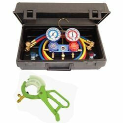 Mastercool 89661 Pro R134 Manifold Set Hoses And Manual Couplers Brand New