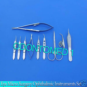 12 Pc O r Grade Eye Micro Surgery Surgical Ophthalmic Instruments Kit Set