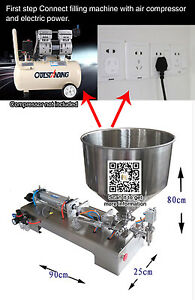Auto Cream Shampoo cosmetic Honey Filling Machine With Foot Pedal 90 1000ml