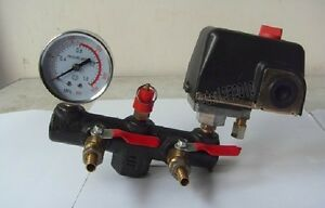 Newest Air Compressor Pressure Control Switch regulator Valve Gauges