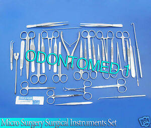 Set Of 78 Pcs Micro Surgery Surgical Veterinary Dental Instruments Studen Ds 930