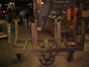 Vintage Industrial Base Factory Cart Base 3