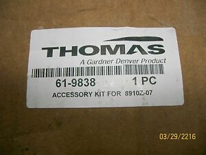 Thomas Gardner Denver 61 9838 Accessory Kit For 8910z 07 Welch Vacuum Pump New