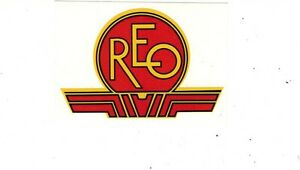 Reo Antique Gas Engine Motor Decal 40 s 50 s Mower Edger