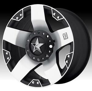 20x8 5 Kmc Xd775 Rockstar Machined Wheel Rim Chevy Ford Gmc Dodge Jeep 5 6 8 Lug