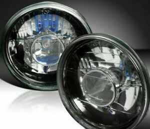 97 15 Jeep Wrangler Tj Jk 7 Round Black Replacement Clear Diamond Headlights