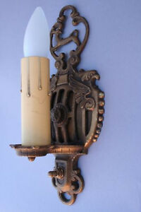 Pair 1920s Griffin Sconce Light Fits Spanish Revival Gothic English Tudor 1891