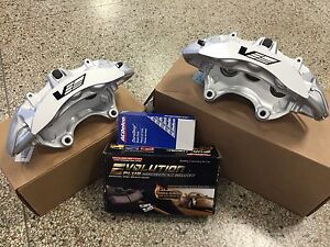 2009 12 Cadillac Cts V Brembo Silver 6 Piston Front Calipers Pads Pin Kit Zl1
