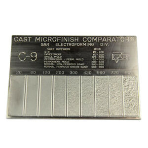 Gar Surface Roughness Scale C 9 Cast Mocrofinish Surface Comparator