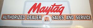 Maytag Gas Engine Motor Authorized Dealer Decal Square 92 72 82 31 Hit Miss Sale