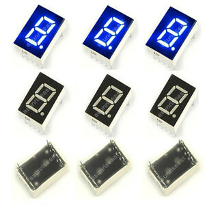 100 Common Anode Blue 7 Segment 0 5 Led Digit Display Digital Tube Wholesale