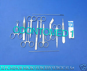52 Pc Minor Micro Surgery Surgical Veterinary Dental Instruments Student Ds 794