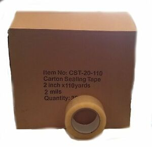 36 Rolls Carton Sealing Clear Packing shipping box Tape 2 Mil 2 X 110 Yards
