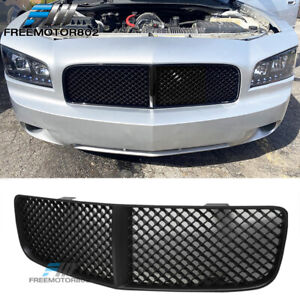For 05 10 Dodge Charger Mesh Style Front Hood Bumper Grille Grill Abs Black