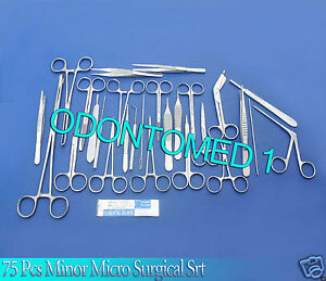 75 Pcs Minor Surgery Suture Surgical Veterinary Set Kit Instruments Force Ds 851