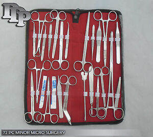 77 Pc Minor Micro Surgery Student Suture Dissection Instrument Kit Ds 878