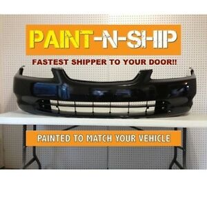 Fits 1998 1999 2000 Honda Accord Coupe Front Bumper Painted ho1000179