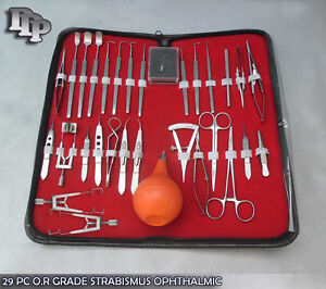 29 Pc O r Grade Strabismus Ophthalmic Eye Micro Surgery Surgical Instruments