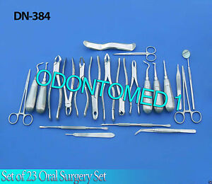 Set Of 23 Oral Surgery Dental Instruments Kit Dn 384