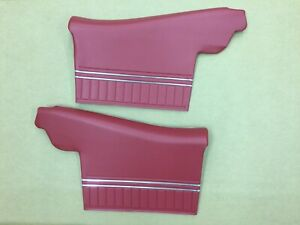 1970 Chevelle Ss Rear Convertible Door Panels In Red In Stock J 6910