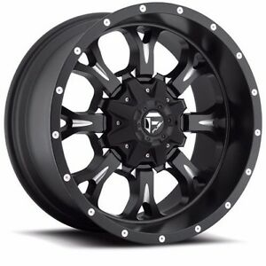 18x9 Fuel Off Road D517 Krank Black Wheels Rims Chevy Ford Gmc Dodge Toyota