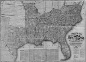 Us Confederate States 1862 Va Map Highland Isle Of Wigt James City County Huge