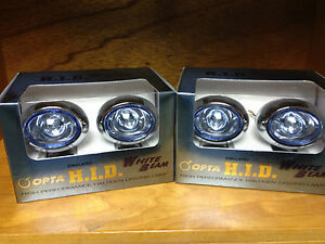 Jdm Universal Halogen White Beam Hid Look Spot Driving fog Lights Opta op 3000