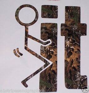 F It Real Tree Max M4 Camo Window Decal Decals Sticker Mossy Oak Camouflage