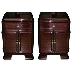 Art Deco Nightstands Rosewood 6112