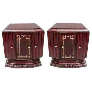Art Deco Nightstands Pair 6318
