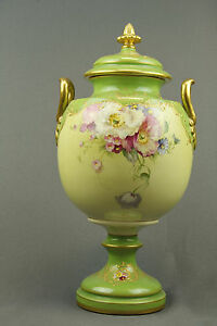 Royal Bonn Porcelain Vase With Beautiful Floral Painting 19th Century
