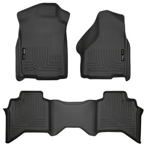 09 18 Ram 1500 Quad Extended Cab Black Weatherbeater 1st 2nd Row Floor Liners
