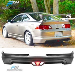 For 02 04 Acura Rsx Mugen Rear Bumper Lip Spoiler Bodykit Urethane With Led