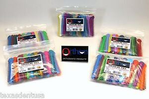 Elastic Orthodontic Ligature Ties Bands Assorted Color Kit Pack 5 1040 Orthom