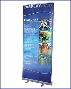 33 5 x79 5 Roll Up Retractable Banner Stand free Printing Trade Show R160