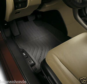 Genuine Oem Honda Accord 4dr Black All Season Floor Mat Set 2013 2017 Mats