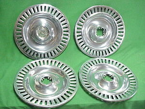 55 56 1956 1955 Chrysler Imperial 4 Hubcaps hub Cap 15 One With Gold Crown