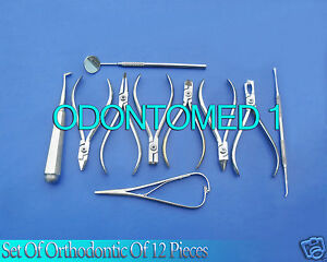 Set Of Orthodontic Instruments Of 12 Pieces Stainless Steel dn 428