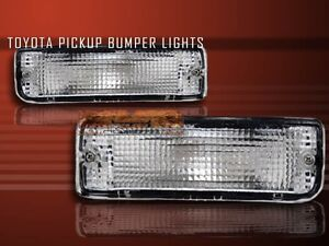 1989 1995 Toyota Pickup 1990 1991 4runner Clear Bumper Signal Lights Lamps