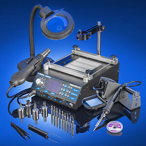 X tronic Model 5040 xr3 Soldering Iron Station Hot Air And Preheating Station