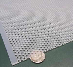 Polypropylene Perforated Sheet 1 16 Thick X 24 X 24 1 8 Dia Hole Stagger