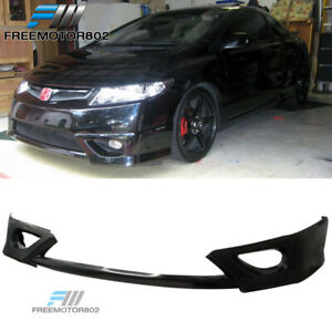 Fit 06 08 Honda Civic 2dr Coupe Hfp Style Front Bumper Lip Spoiler Bodykit Pu