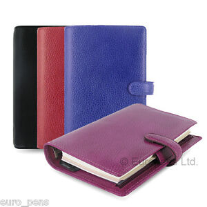 Filofax Finsbury Leather Personal Size Organiser All Colours Available