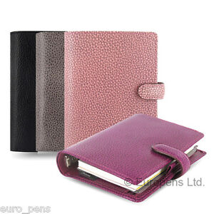 Filofax Finsbury Leather Pocket Size Organiser All Colours Available
